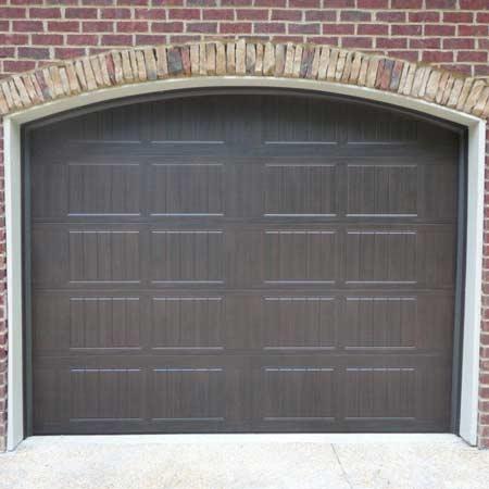 Dark Brown Garage Door